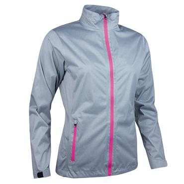Sunderland Ladies Tech-Lite Waterproof Jacket Silver - Magenta