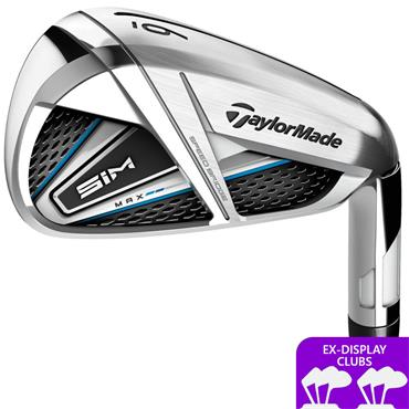 TaylorMade Ex Display SIM Max 7 Steel Irons 5-SW Gents LH