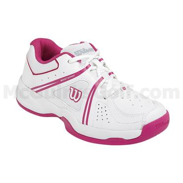 Wilson Envy Junior Tennis Shoes White - Pink