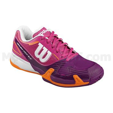 Wilson Ladies Rush Pro 2 Tennis Shoes Plum