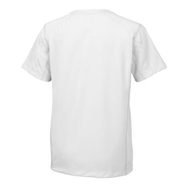 Wilson Junior - Boys Nvision Elite Crew Tennis T-Shirt White