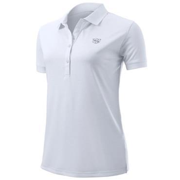Wilson Ladies Stripe Polo White