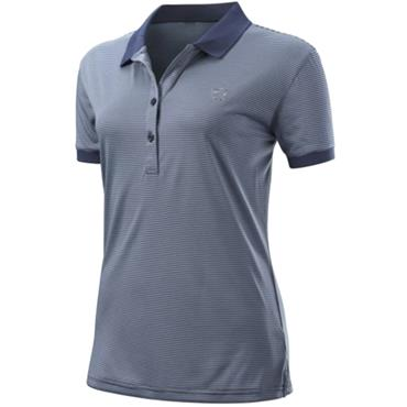 Wilson Ladies Stripe Polo Indigo