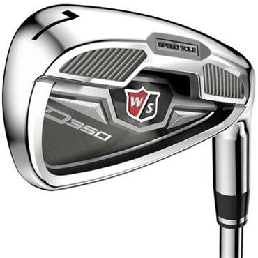 Wilson D350 7 Steel Irons 5-PW & GW Uniflex LH