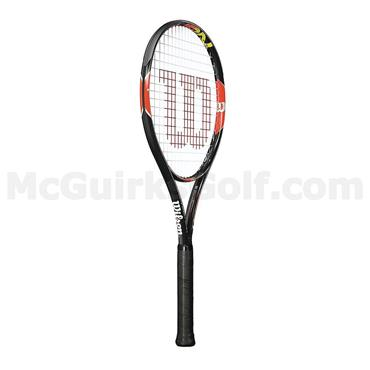 Wilson Burn 100 Team Tennis Racket Black - Orange
