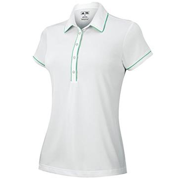 Adidas Ladies Fashion Polo Shirt White - Green