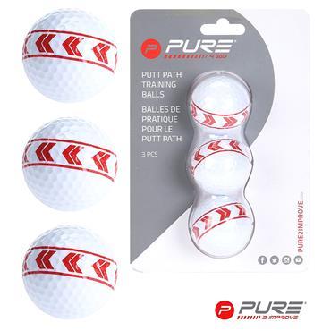 Pure 2 Improve Align Golf Balls Set of 3  ONE