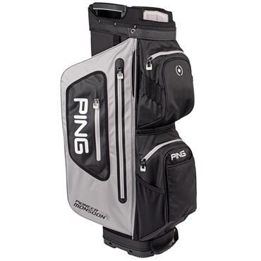 Ping Pioneer Monsoon 201 Cart Bag  Light Grey Black White