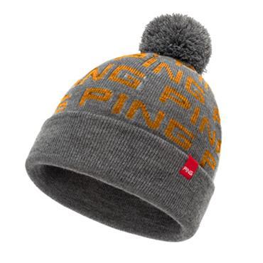 Ping Logo Bobble 203 Hat  Grey Orange