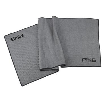"Ping Player Towel 38""x16""  Steel/Black"