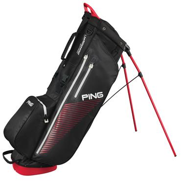 Ping Hoofer Monsoon Waterproof Stand Bag  Black/Scarlet/White