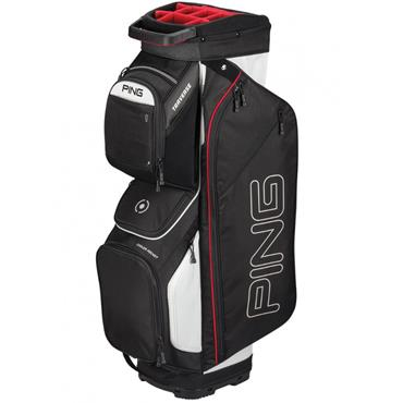 Ping Traverse 191 Cart Bag Black - White - Scarlet