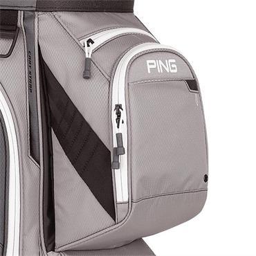 Ping Traverse 191 Cart Bag  Silver Grey White