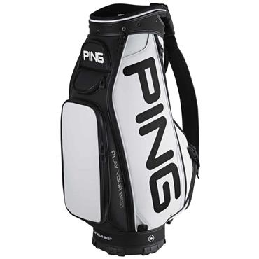 Ping Tour Staff 191 Cart Bag  White Black