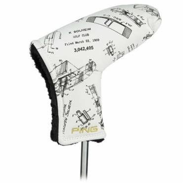 Ping Patent Drawing Putter Headcover  Black/White