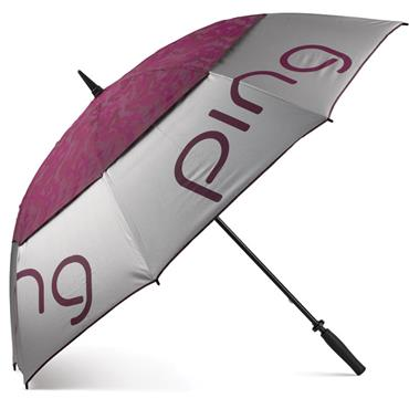 Ping Ladies Double Canopy Umbrella  Silver
