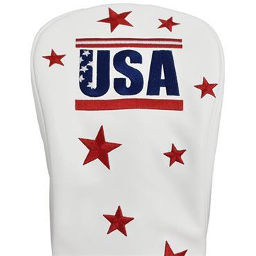 Premier Licensing Driver Headcover White USA