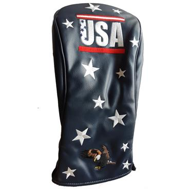 Premier Licensing Driver Headcover Navy USA