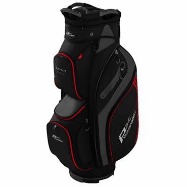 Powakaddy DLX Lite Edition Cart Bag  Black/Titanium/Red