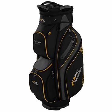 Powakaddy DLX Lite Edition Cart Bag  Black Titanium Yellow