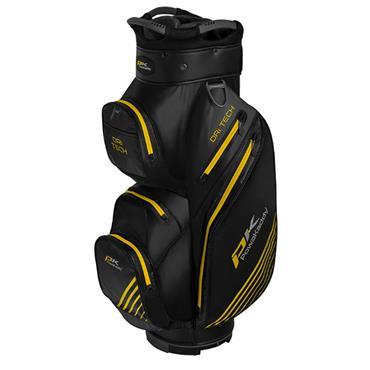 Powakaddy Dri-Tech Cart Bag  Black Gunmetal Yellow