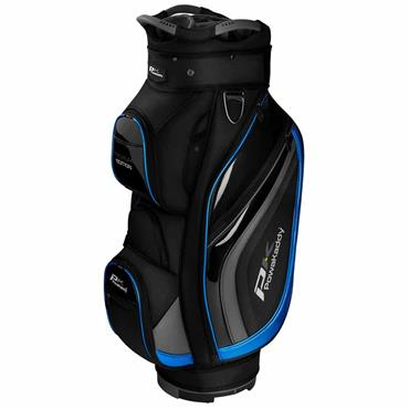 Powakaddy Premium Edition Cart Bag  Black/Gunmetal/Blue