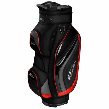 Powakaddy Premium Edition Cart Bag  Black/Gunmetal/Red