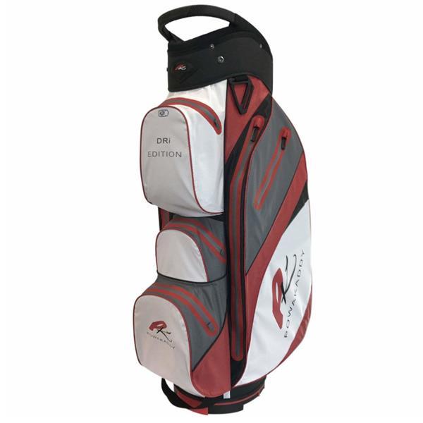 Powakaddy Dri Edition Waterproof Cart Bag White/Grey/Red | Golf Store