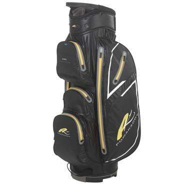 PowaKaddy Dri Edition Cart Bag Black - Gunmetal - Yellow