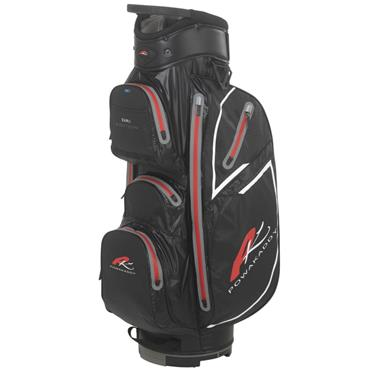 PowaKaddy Dri Edition Cart Bag Black - Gunmetal - Red
