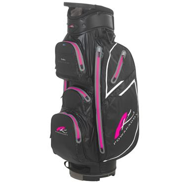 PowaKaddy Dri Edition Cart Bag Black - Gunmetal - Pink