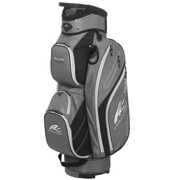 PowaKaddy Deluxe Cart Bag Black - Gunmetal - Silver