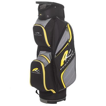 Powakaddy Lite Cart Bag  Black/Gunmetal/Yellow