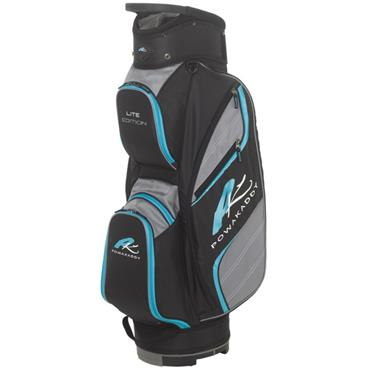 PowaKaddy Lite Cart Bag Black - Gunmetal - Aqua