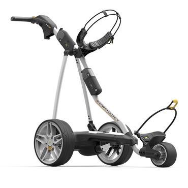 PowaKaddy FW3s Electric Trolley Extended Lithium Battery White