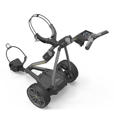 PowaKaddy FW7s Electric Trolley Extended Lithium Battery Gunmetal