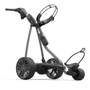 PowaKaddy FW7s EBS GPS Bluetooth Electric Trolley Extended Lithium Battery Gunmetal
