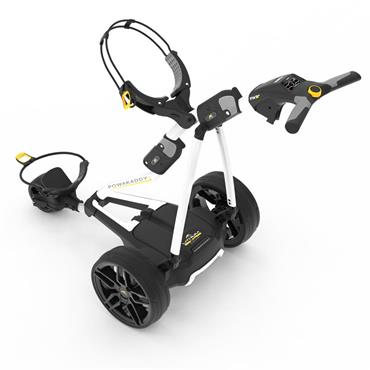 PowaKaddy FW3s 2019 Electric Trolley Extended Lithium Battery White