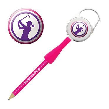 Surprizeshop Lady Golfer Retractable Pencil Purple