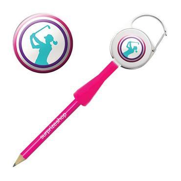 Surprizeshop Ladies Golfer Retractable Pencil Multicolour