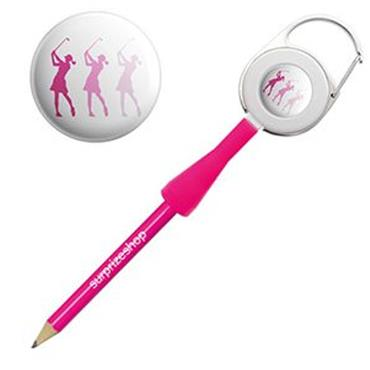 Surprizeshop Ladies Pink Retractable Pencil  Silhouette