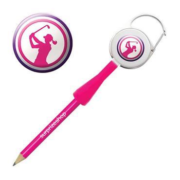 Surprizeshop Ladies Golfer Retractable Pencil Pink