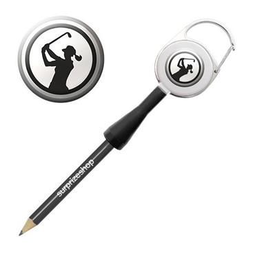 Surprizeshop Ladies Golfer Retractable Pencil Black