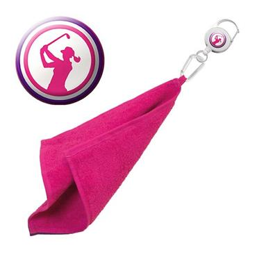 Surprizeshop Lady Golfer Retractable Towel  Pink
