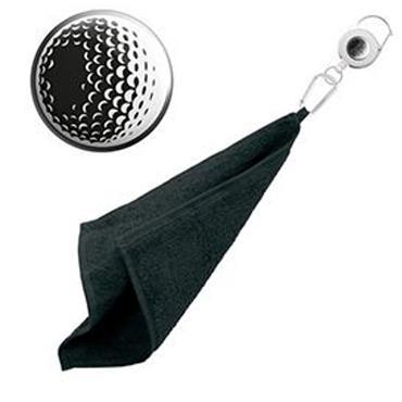 Surprizeshop Golf Ball  Retractable Towel  Black