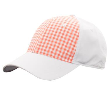 Green Lamb Ladies Harriet Print Baseball Cap  Coral/White