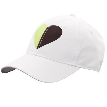 Green Lamb Ladies Harriet Print Baseball Cap  White/Greenery