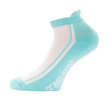 Green Lamb Ladies Colour Block Socks 3-Pairs  White/Capri