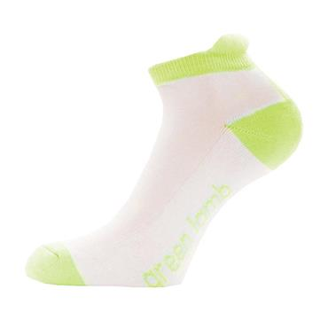 Green Lamb Ladies Colour Block Socks 3-Pairs  White/Greenery