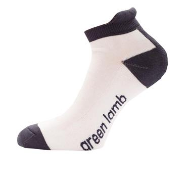 Green Lamb Ladies Colour Block Socks 3-Pairs  White Navy